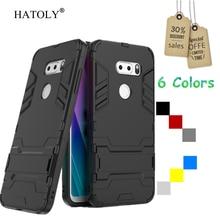 HATOLY sFor Cover LG V30S Case Rubber Robot Armor Shell Slim Hard Back Phone Case for LG V30S Cover for LG V30S ThinQ Plus V30+