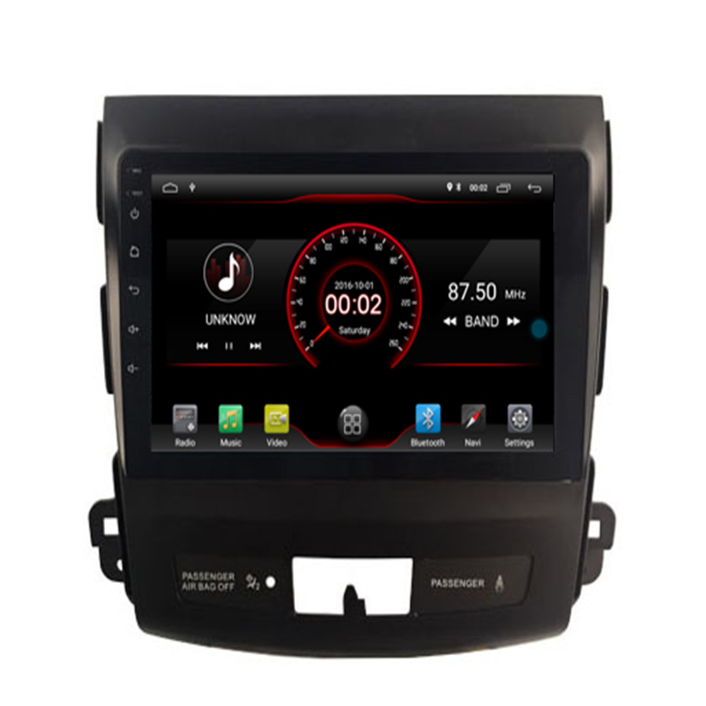 Android 9.1 Car DVD gps multimedia player For Mitsubishi Outlander xl 2 2005 2011 Car navigation radio video audio player