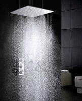 Распыления и дождевой воды Функция Ванная комната Продукты 20 дюймов Ванна Насадки для душа термостат Ванна Ванная комната душа Установить