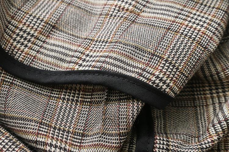 Ufficio Elegante Vita : Donne plaid vita alta pantaloni zipper stile europeo con cintura