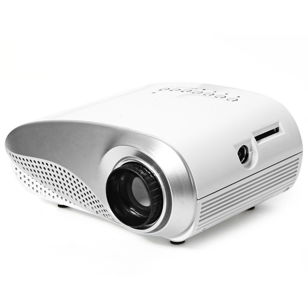 Multimedia led mini pico portable projector with usb sd for Usb projector reviews