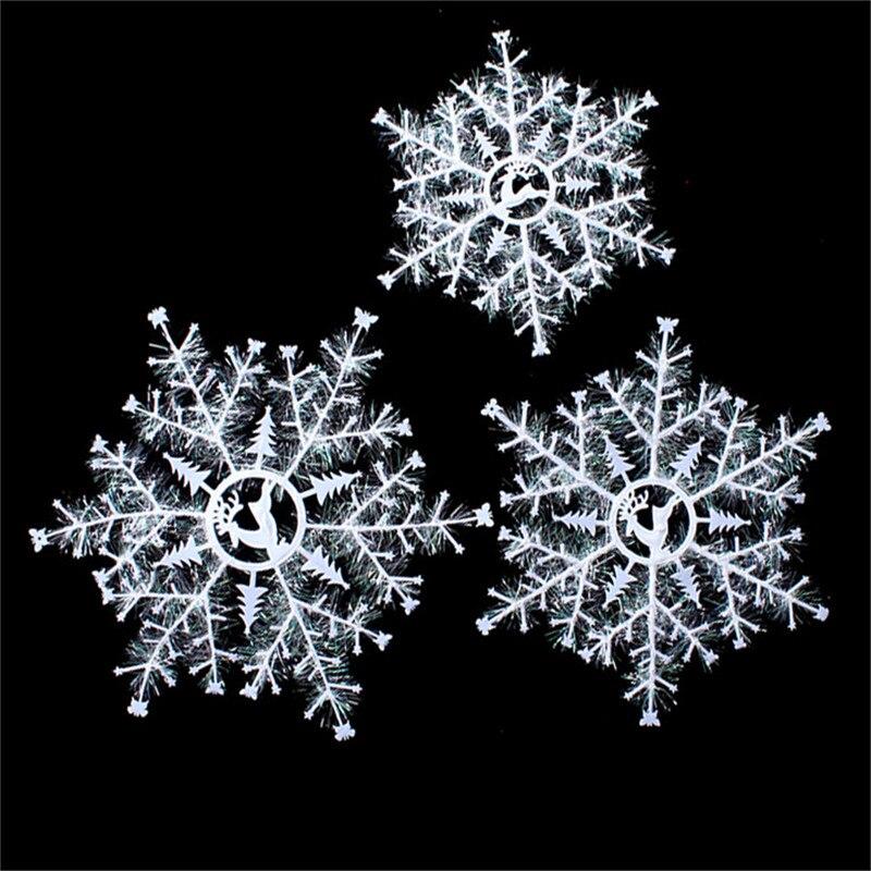 рождественские пластиковые снежинки