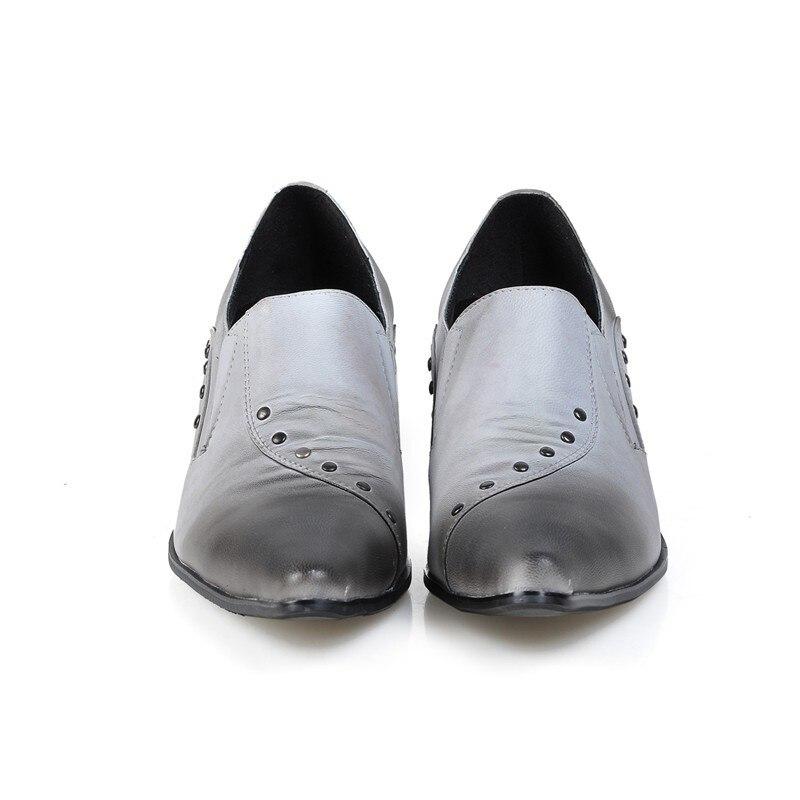 En Antideslizante Tacón Puntiagudo Boda Pie Hombres Homb Remaches Para Los La Alto Dedo Oxford De Vestir Hombre Cuero Fiesta Italiano Zapatos Del t7wpPq