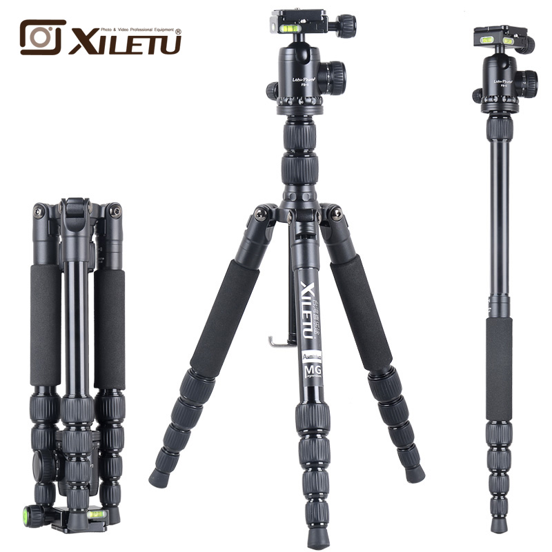 XILETU T225A Camera Tripod lightweight with panorama 360 degree Ball Head kit Stand Bracket For DSLR Camera can Change moonpod