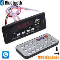 Wholesale Brand New 7 12V Car Handsfree Bluetooth MP3 Decode Board With Bluetooth Module FM Free