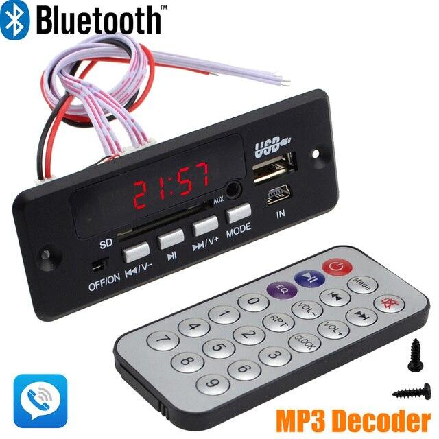 Estrenar al por mayor 7 ~ 12 V Del Coche Manos Libres de Llamadas Bluetooth Módulo de a Bordo de Decodificación MP3 con Bluetooth + FM + Free Shipping 10000656