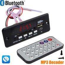 Tout Neuf en gros 7 ~ 12 V De Voiture Mains Appel Gratuit Bluetooth MP3 Decode Conseil avec Bluetooth Module + FM + Livraison Shipping 10000656