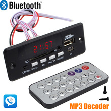 Wholesale Brand New 7~12V Car Hands Free Call Bluetooth MP3 Decode Board with Bluetooth Module+FM+Free Shipping 10000656