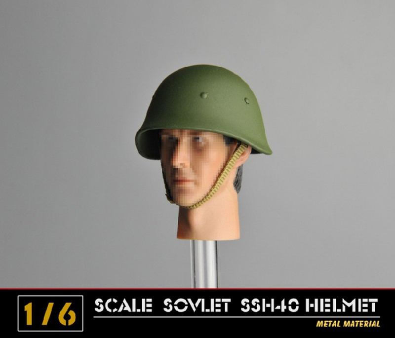 1/6 scale WWII Soviet army soldiermetal helmet cap hat SSH40 action figure accessories