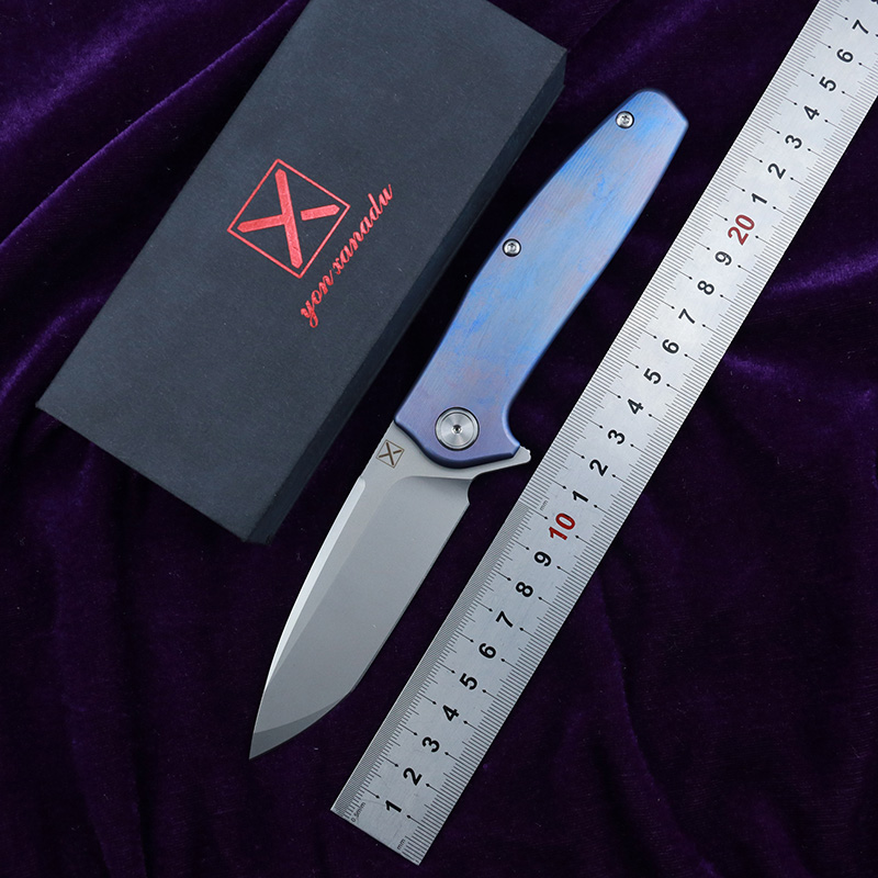LEMIFSHE XY750 NEW folding knife Ball bearing VG-10 blade Titanium handle camping hunting Outdoor pocket fruit knives EDC <font><b>tools</b></font> image