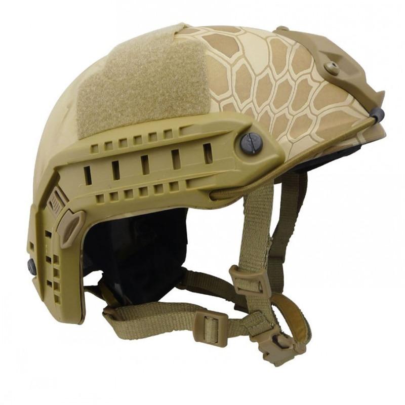 The U.S. Ops FAST MH Tactic Helmet Standard War System Helmet Field Army Fan Camouflage Helmet