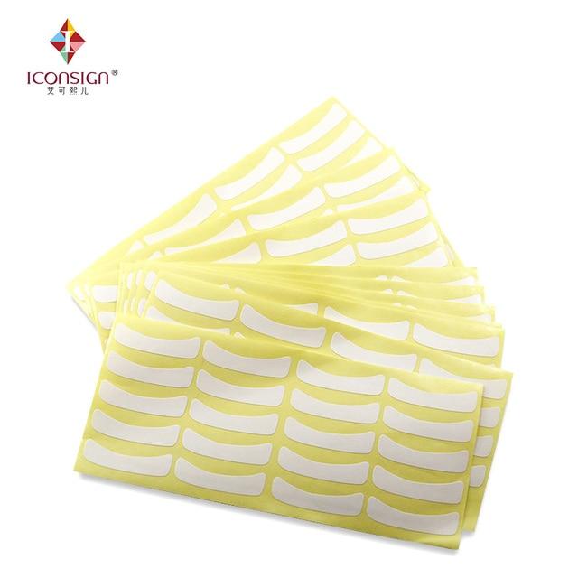 100 pares Ultra delgada de papel blanco parche en el ojo, NO Gel forro para la extensión de pestañas maquillaje extensión