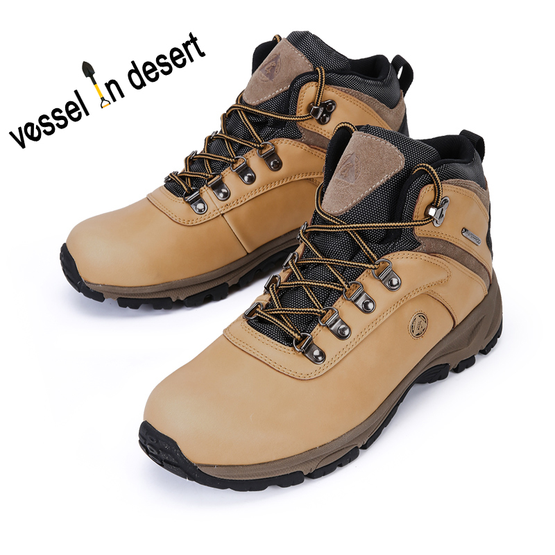 Free Shipping Vessel in Desert Hot Sale Waterproof Men's Hiking Boots Outdoor Breathable Boots Mens Footwear Plus Size