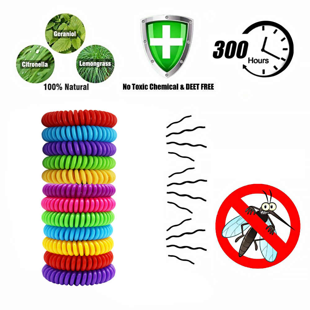 10pcs Anti Repellente Della Zanzara Braccialetti Pest Controllo Degli Insetti Braccialetti Killer Bug Zappers di Campeggio Esterna Adulti Bambini di Protezione