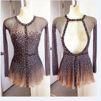 Ice Figure Skating Dress/Dance/Baton Twirling costume/Tap Outfit Custo