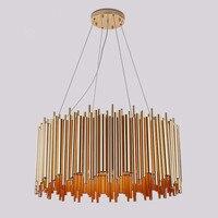 Postmodern G9 Led Light Bulb Metal Suspension Chandelier Round Shape Artistic Creative Living Room Restaurant Lamp