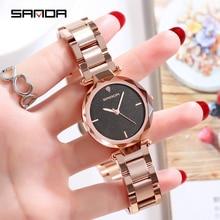 купить 2018 Luxury Brand lady Crystal Watch Women Dress Watch Fashion Rose Gold Quartz Watches Female Stainless Steel Wristwatches P243 по цене 2680.8 рублей