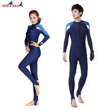 Diving Suit Full Dive Skin Jump Suit Wimming Wetsuits dive suit men or women swimming Swimwear
