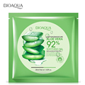 BIOAQUA Natural Aloe Vera Gel Facial Skin Care Mask Moisturizing Oil Control Shrink Pores Hyaluronic acid Face Mask 2Pcs