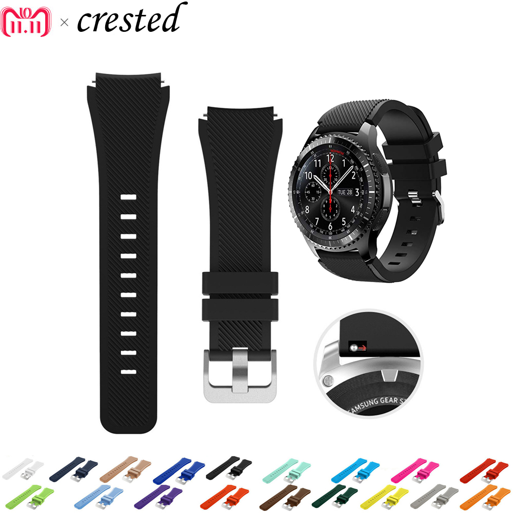 Sport Strap for samsung gear s3 Frontier/Classic band smart watch silicone bracelet for Xiaomi Huami Amazfit Pace/Stratos 2/1 22mm smart watch strap for samsung gear s3 frontier classic genuine leather watchband xiaomi huami amazfit pace stratos 2 1