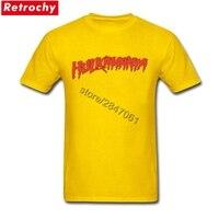 Men S Yellow T Shirt Hulkamania Young Boy 80S Hip Hop Men Tees Shirts Male Short