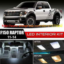 Free Shipping 10Pcs/Lot 12v Xenon White/Blue Package Kit LED Interior Lights For 11-14 Ford F150 Raptor free shipping 10pcs gl830 qfp48 package