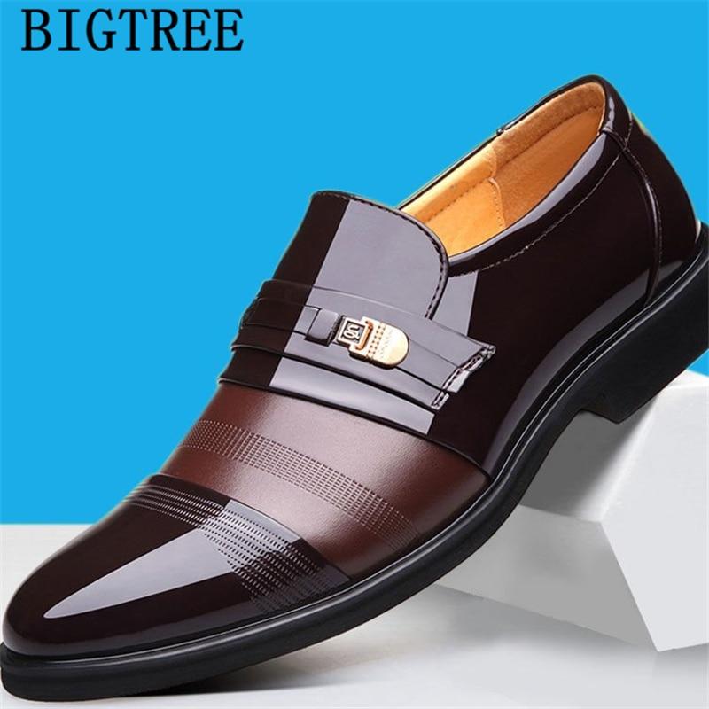Vestido de casamento vestido de terno formal homens sapatos mocassins homens deslizamento em sapatas de vestido dos homens de negócios sapatos de couro homens de oxford zapatos hombre vestir