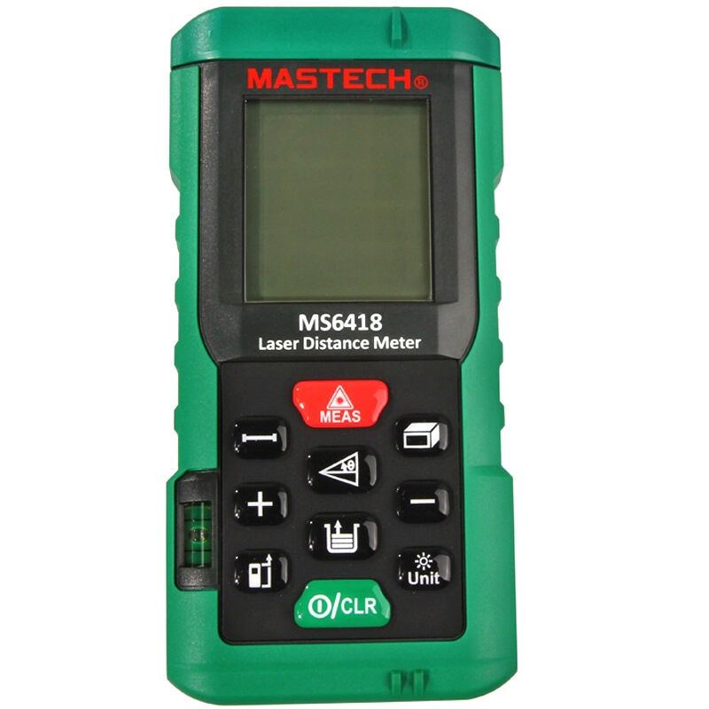 MASTECH MS6418  Laser distance meter 80m bubble level tool Rangefinder Rang finder Tape measure Area/Volume Tester hot selling 80m laser rangefinder mastech ms6418 laser distance meter