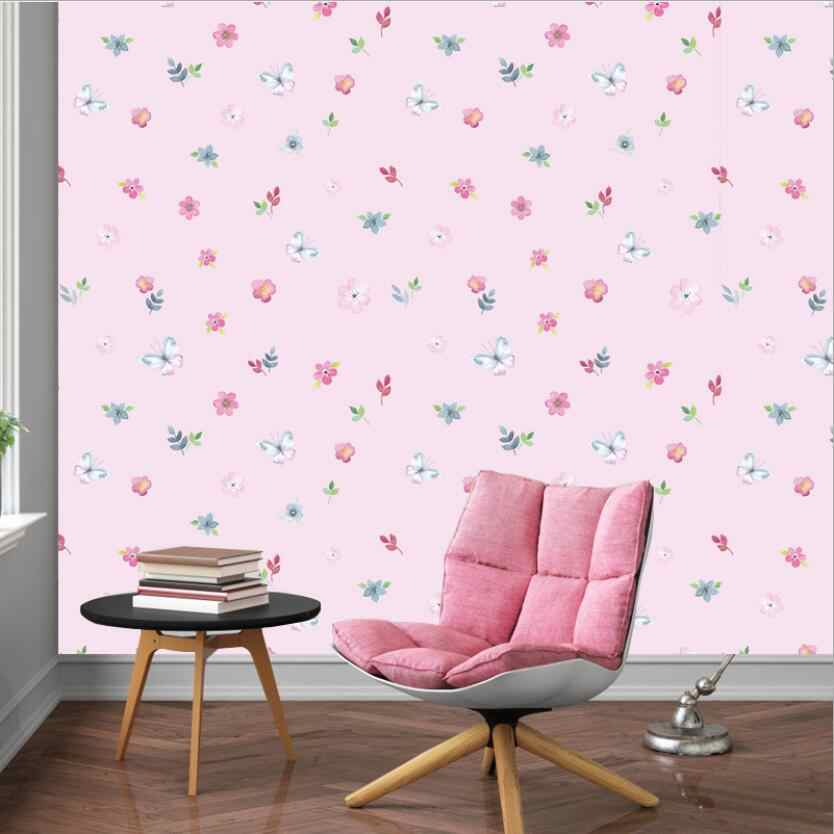 New Arrival Pink Flower Petals Wallpaper Sweet Self Adhesive Baby Girl Kids Room Wallpapers Child Bedroom Decor Wall Paper W049 Wallpapers Aliexpress
