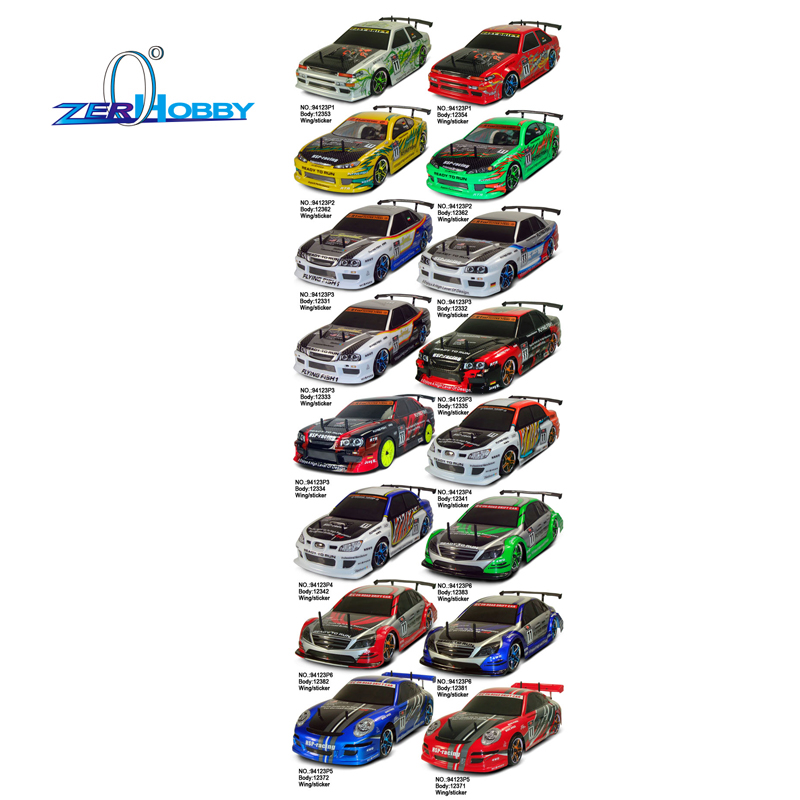 ФОТО hsp rc car spare parts accessories 1/10 scale electric on road drift car bodyshell 44.5*20cm various colors