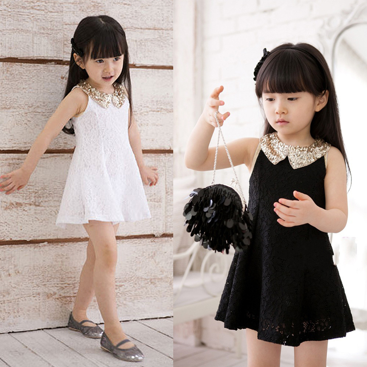 2015 Baby Girls Dress Lace Summer Style Sleeveless Clothes Cute Bow Kids Princess Vestidos Infantis - Amy Boutiques store