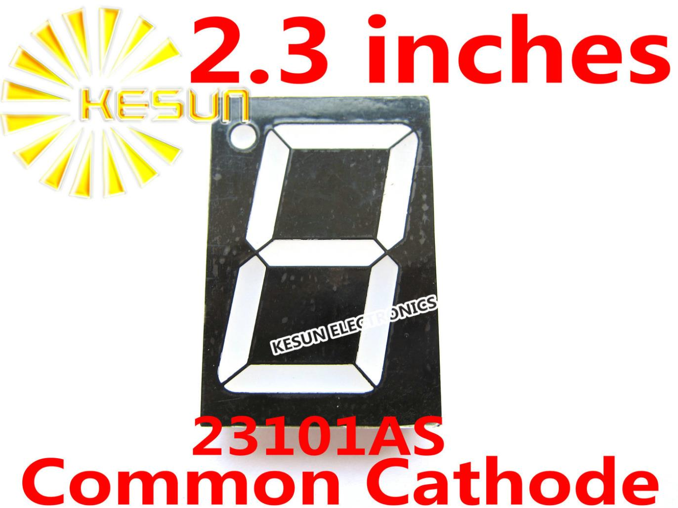FREE SHIPPING 5PCS X 2.3 Inches Red 23101AS 23101BS Common Cathode/Anode Single Digital Tube LED Display Module