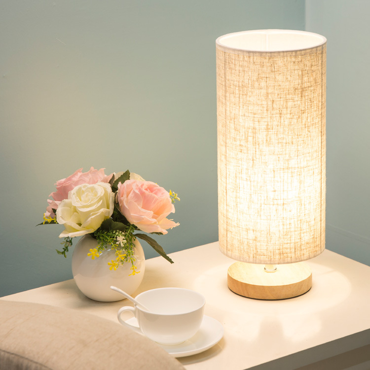 Wooden Table Lamp With Fabric Lampshade Wood Bedside Desk lights Modern Book Lamps E27 110V 220V Reading Lighting Fixture botimi wooden table lamp with fabric lampshade bedside desk lights lamparas de mesa book lamps deco luminaria reading lighting