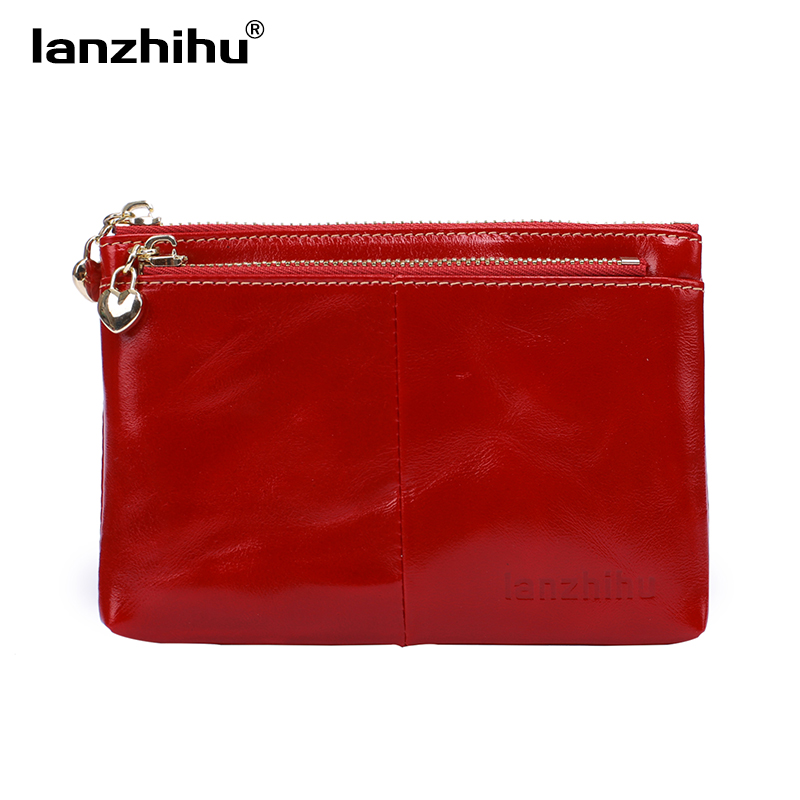 Women Real Genuine Leather Wallet Small Leather Coin Purse Cowhide Zipper Mini Key Holder Card Front Pocket Wallets for Women 2018 fashion genuine leather women wallet bi fold wallets id card holder coin purse with double zipper small women s purse