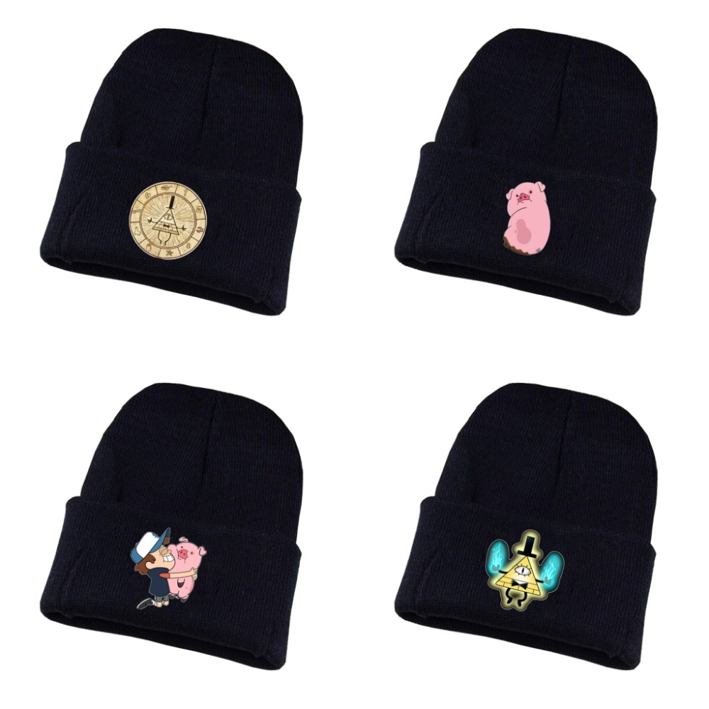 Anime Gravity Falls hat Bill Cipher Mabel Dipper Waddles cosplay Cotton Hat Knitted Hat   Cap   Sleeve   Cap   Costume Accessory hat