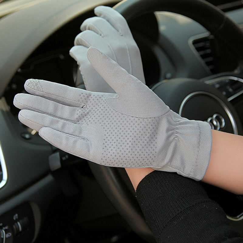2019 NEW Summer Sun Protection Gloves Male Thin Breathable Anti-Slip Driving Gloves Anti-UV Full Fingers Man Mittens SZ105W1-9