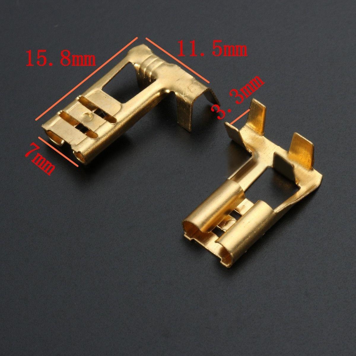 144pcs 2.8mm Motorcycle Brass Bullet Connectors Automotive Harness ...