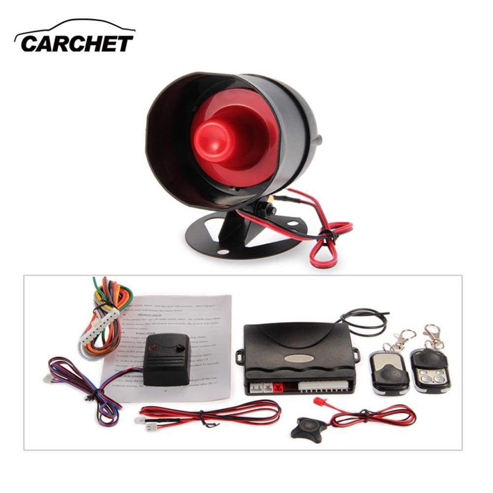 imágenes para Carchet sistema de fijación central del coche kit de 2 mando a distancia universal 1-way sistema de alerta de advertencia auto alarma de seguridad semental dc 12 v