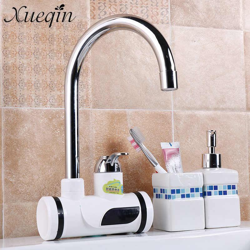 Xueqin Basin Faucets Electric Bathroom Water Heater Instant Heating Faucet Digital Display Bathroom Sink Tap Leakage Protection цены