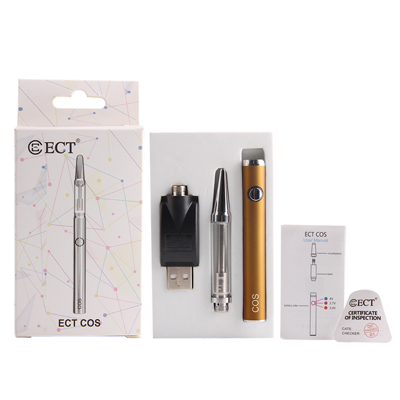 , Low price ECT C0S With 450mah Battery kit 1.0ml capacity Three-speed adjustable voltage Food grade stainless steel vape pen kit