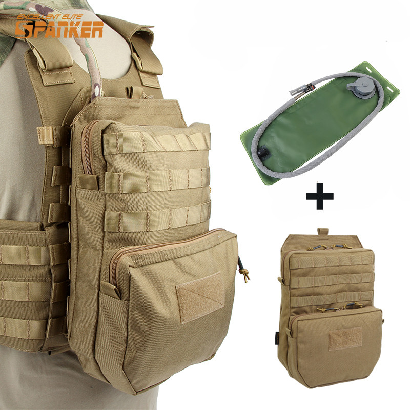 SPANKER Molle Tactical Vest Hydration Backpack With 3L Hydration Water Bladder Pouch Reservoir Fishing Cycling Hunting Bag Pack outdoor riding hydration bladder armor backpack hiking cycling climbing tactical water bag