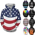 2017 New Mens Fashion Casual Hoodies Hip Hop Funny 3D Printed Hooded Pullover Sweatshirt Long Sleeves Coat S-2XL Tracksuit