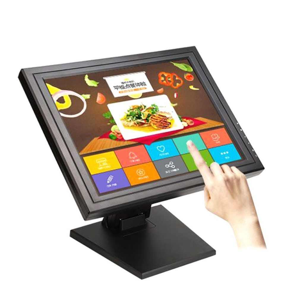 17 дюймов сенсорный экран СВЕТОДИОДНЫЙ монитор POS с технологией TFT, ЖКД, сенсорной панелью 1024X768 розничный ресторанный бар сенсорный экран дисплей USB интерфейс