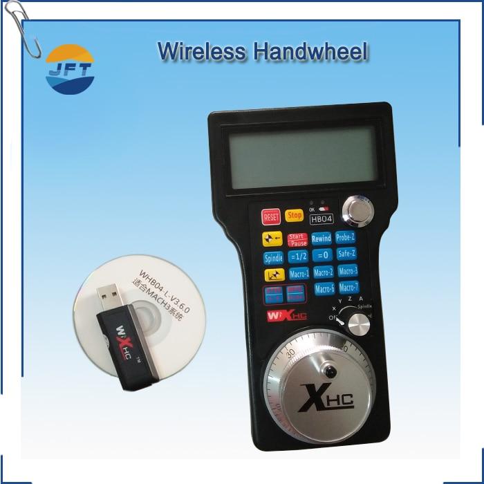 FGHGF Wireless Mach3 MPG Pendel svarv för CNC Mac.Mach 3 4 axel HandWheel Machine med jft cnc