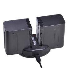 2pc x 7200mAh NP-F960 NP-F970 Li-ion Battery + USB Dual Charger for SONY NP F960 F970 F950 F330 F550 F570 F750 F770 MC1500C 190P