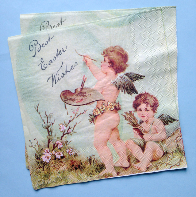 lunch paper napkins 20pcs 33x33cm 2 ply vintage angel paper napkins for decoupage decorative - Decorative Paper Napkins