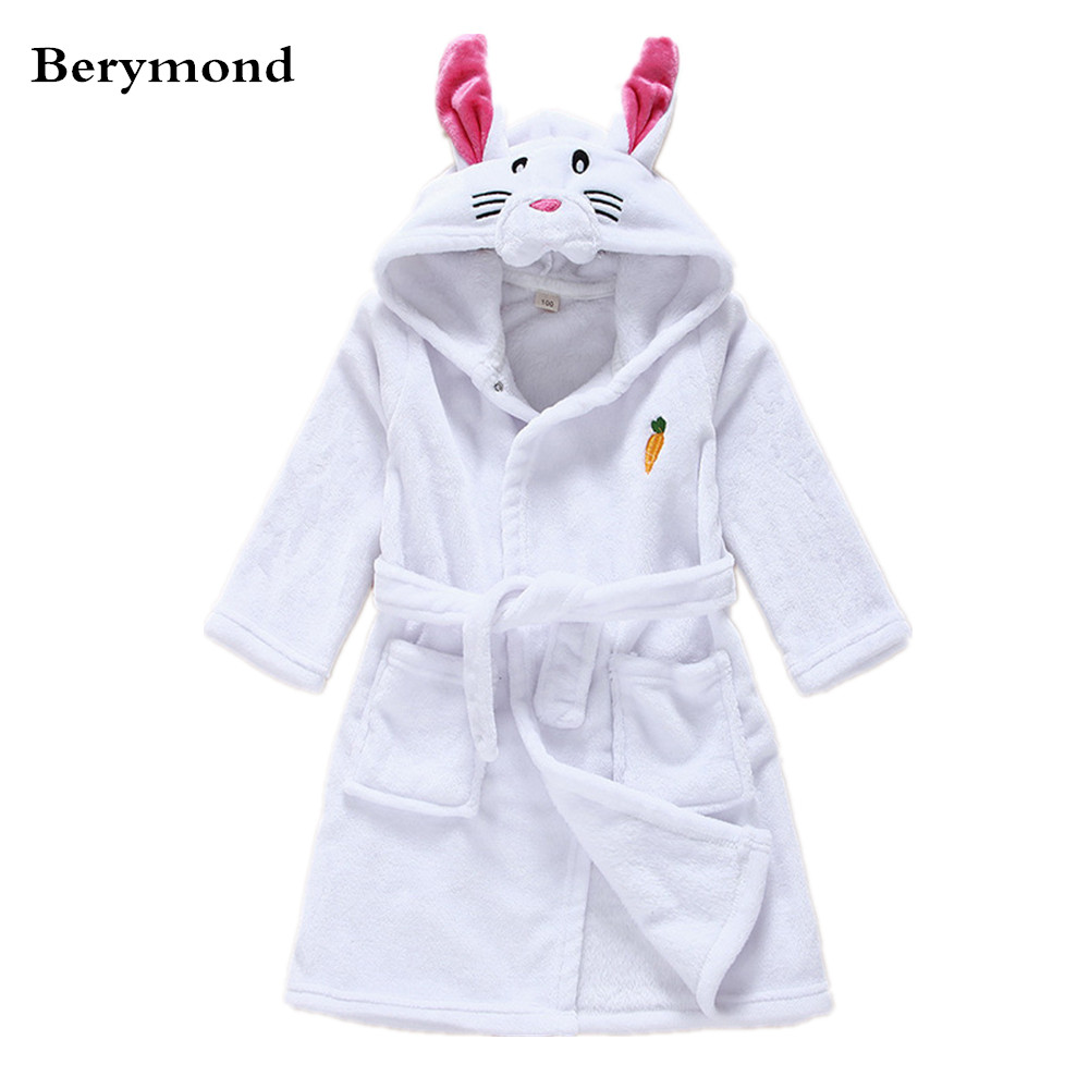 d16c95a94 Berymond Unisex Children Robe Animal Shape Boy Girl's Bathrobe Baby Pajamas  dress Home Clothes Kids Clohting Sleepwear& Robes-in Robes from Mother &  Kids on ...