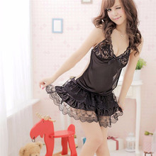 JAYCOSIN Sexy Lace Passion Petticoat women 2017 Summer Lingerie Backless Halter Babydoll G-string petticoat Slips 48#