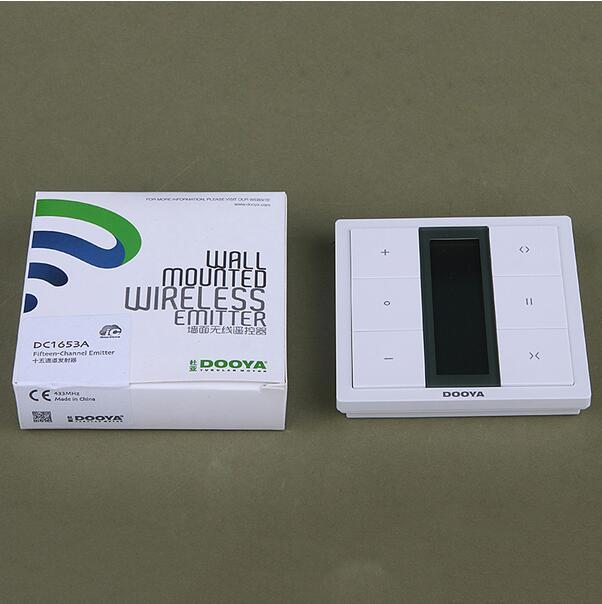 Smart Home Dooya commutateurs muraux à quinze canaux contrôle sans fil pour pistes ou moteurs à rideaux motorisés