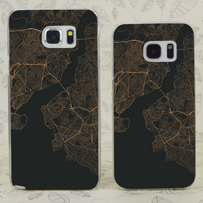 C2124 Traffic Istanbul Gold Transparent Hard PC Case Cover For Samsung Galaxy S 3 4 5 6 7 Mini Edge Plus Note 3 4 5 9